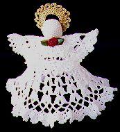 Picture of the Crochet Angel Tree Topper  by Nazanin Fard.