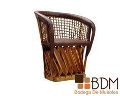 silla rústica.
