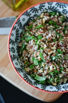 Herbed Wild Rice Salad with Toasted Pine Nuts | Aggie's Kitchen - http://delectablesalads.com/herbed-wild-rice-salad-with-toasted-pine-nuts-aggies-kitchen/ -