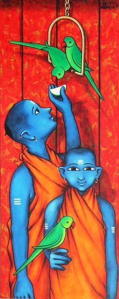 Nitin Ghangrekar | Paintings by Nitin Ghangrekar | Nitin Ghangrekar Painting - SuchitrraArts.com