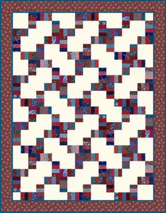 4th of July Road Strip Quilt Design | FaveCrafts.com easy block Cm