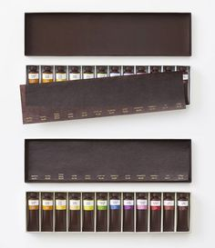 Whoa! This beautiful set of oil paints is actually chocolate.