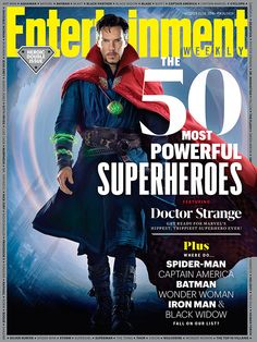 "Are you ready to get weird? This week's cover star is Benedict Cumberbatch, dressed in the full Sorcerer Supreme garb of his titular, magic powers-wielding character in Doctor Strange (out Nov. 4). And the Sherlock star has no doubt that Marvel's new superhero movie is indeed a freaky affair. ""It's a peculiar one — Strange by name, strange by name,"" says the British actor."