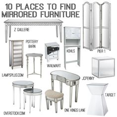 10 sources for mirrored furniture
