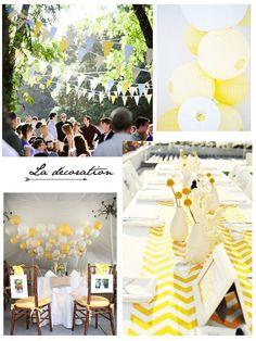 Mariage : Idées déco et autres trouvailles autour du jaune   www.decocrush.fr