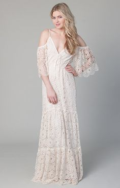 Bohemian Wedding Dress Petunia Gown by BeMyBride on Etsy