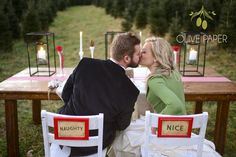 Christmas Wedding Stationery by Olive Paper, Photography: Monica Reid Photography