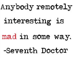 Doctor Who Quote Series 1 Seventh Doctor by EmmasCrossStitch, $3.00