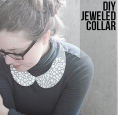 DIY Jeweled Collar - Henry Happened