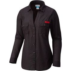 Columbia Sportswear Women's University of Georgia Sun Drifter Button Down Shirt (Black, Size Medium) - NCAA Licensed Product, NCAA Women's at Acade...