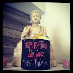 inspiration jar: tiny quotes of inspiration for your day. Tranquil Space Yoga, Washington DC Love! Maybe in the classroom!?!