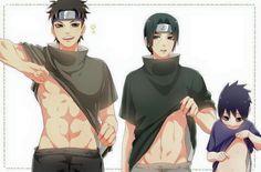 Naruto   Shisui, Itachi amd little Sasuke