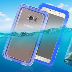 Sport Waterproof Swimming Case for Samsung Galaxy Note 5 S6 edge Plus Diving Clear Front Back Full Pouch Cover Plastic TPU Bags