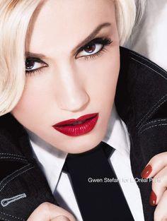 Gwen wearing LOreal Infallible lipstick in Ravishing Red