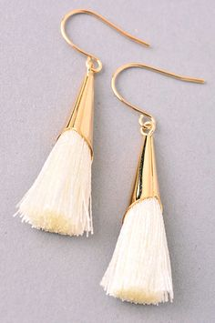 The Kiera Earrings - statement tassel earrings! Lead & Nickel Free. // shop.thinkelysian.com
