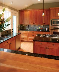 Cherry Wood Cabinets - Bearing in mind cherry wood cabinets in the pantry? Pantries with cherry wood cabinets are faultless for. Kitchen Inspirations, Kitchen Cabinet Design, Rustic Kitchen Cabinets, Cherry Cabinets Kitchen, New Kitchen Cabinets, Kitchen Design, Wood Kitchen Cabinets, Kitchen Renovation, Rustic Kitchen