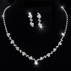 Set COLLIER Halskette Perlen Strass BRAUTSCHMUCK HOCHZEIT BRAUT SCHMUCK Hochzeit in Uhren & Schmuck, Hochzeitsschmuck, Brautschmuck | eBay!