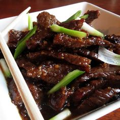 P.F. Chang's Knock Off Mongolian Beef | Rumbly in my Tumbly... The sauce for this was delicious!