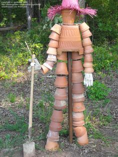 lady made of pots