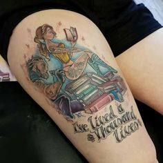 Beauti and the beast reading tattoo
