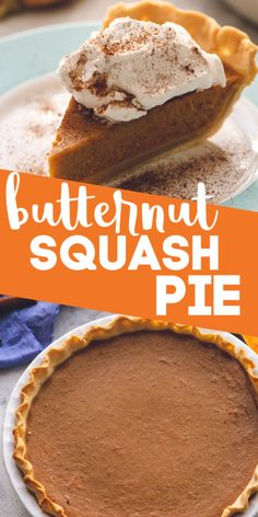 This Smooth, Spicy Made From Scratch Butternut Squash Pie Tastes Even Better Than The Traditional Pumpkin Pie Make This One For Thanksgiving Dessert And Everyone Will Be Asking For The Recipe And Wanting To Know What Your Secret Is Single Serve Desserts, Desserts For A Crowd, Great Desserts, Delicious Desserts, Yummy Treats, Summer Dessert Recipes, Winter Desserts, Healthy Dessert Recipes, Sweets Recipes