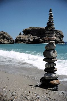 Sougia Beach - Cairn