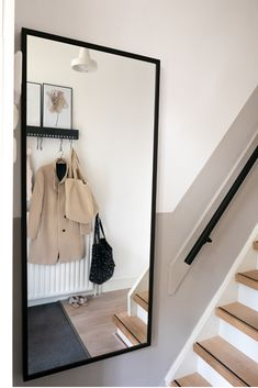43 Lovely Picture Frames to Make Your Favorite Photos Stand Out - The Trending House Home Living, Living Room Decor, Interior Inspiration, Room Inspiration, Stair Decor, House Stairs, Hallway Decorating, Decorating Ideas, Home Reno