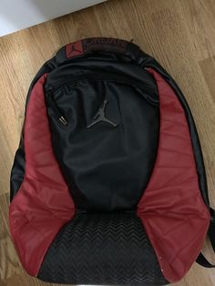 4b130fee81 Nike Jordan 12 Retro Flu Game Backpack Bookbag  fashion  clothing  shoes