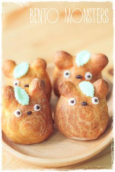 #Bento, #Monsters: #Totoro #Cream #Puff.۰⋱‿✿۰