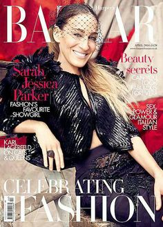 Sarah Jessica Parker in Louis Vuitton, photographed by Alexei Lubomirski for Harper's Bazaar UK April 2014 issue
