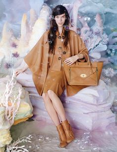 Meghan Collison for Mulberry SS 2013 Campaign by Tim Walker. I like that Tim Walker has mixed up his Mulberry campaign for . Burberry, Gucci, Cara Delevingne, Kate Moss, Miu Miu, Tim Walker Photography, Versace, Alexander Mcqueen, Prada