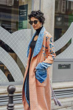 October 2, 2016  Tags Orange, Black, Sunglasses, Paris, Blue, Fringe, Women, Prints, Florals, Coats, Earrings, Turtlenecks, Hillier Bartley, Cut Outs, Velvet, Textured, 1 Person, Short Hair, SS17 Women's