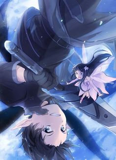 Sword Art Online - Kirito & Yui Drawing S, Sword Art Online, Tokyo Ghoul, Fairy Tail, Bleach, Dragon Ball, Anime Art, Naruto, Otaku