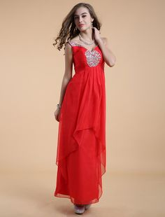 Princess V Neck Floor Length Red Evening Dress Bridesmaid Dresses 2014, Knee Length Bridesmaid Dresses, Backless Prom Dresses, Affordable Evening Gowns, Evening Dresses Online, A Line Evening Dress, Dress Picture, Party Gowns, Beautiful Gowns