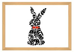 rabbit cross stitch pattern silhouette cross by ILoveMyDesigns