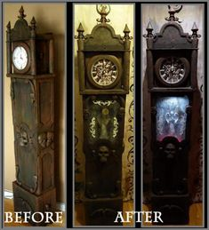 Prop Showcase: 2017 Updated Cardboard Grandfather Clock with Arduino HF member theundeadofnight