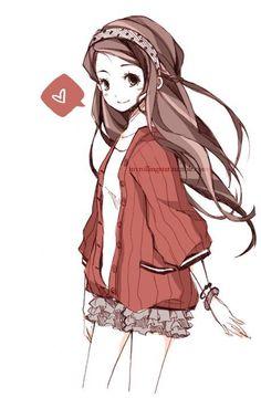 Resultado de imagen para Girl with red sweater drawings