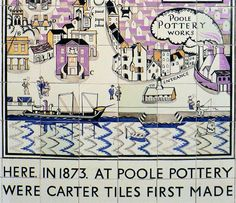 Part of a Tile Panel designed by Edward Bawden 1930 B Words, Tile Panels, British Army, Art Pages, Mosaic Tiles, Printmaking, Pottery, Graphic Design, Illustration