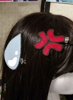 Anime Expression Hair Clips- gift idea