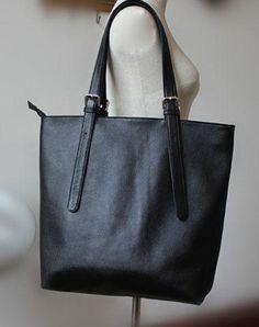 Handmade Vintage Leather Oversize Tote Bag Shoulder Bag Handbag For Women