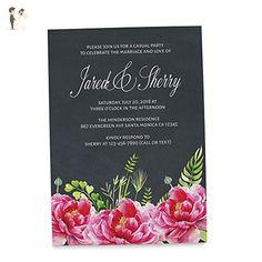 Chalkboard Elopement Announcement Card, Marriage rustic announcement cards, Wedding Announcement Card - Wedding party invitations (*Amazon Partner-Link)
