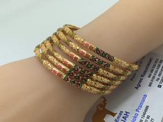 22k / 91,6% Gold Dubai Set  Bangles 62,59gr diameter 6,2cm