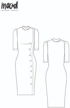 Dress Sewing Patterns, Sewing Patterns Free, Free Sewing, Clothing Patterns, Free Pattern, Mood Fabrics, Fashion Sewing, Sewing Clothes, Sewing Pants