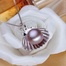 New Fashion Jewelry Women's Purple Akoya Pearl Sterling Silver Pendant Necklace - https://barskydiamonds.com/necklaces/
