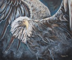 """Watchful Eyes"", by acrylic on canvas. Original sold, available in giclee prints and fine art cards. Eagle Drawing, Eagle Art, Modern Impressionism, Eagles, Giclee Print, Native American, Lion Sculpture, Fine Art, Statue"
