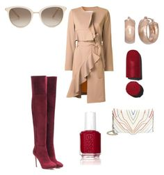 """Untitled #242"" by mrssofia on Polyvore featuring Goen.J, Elena Ghisellini, Jimmy Choo, Chopard and Essie"