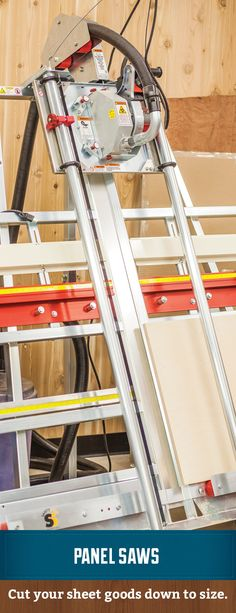 Cut your sheet goods down to size in a safely. #panelsaw #verticalpanelsaw #verticalsaw