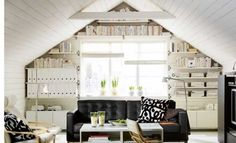 great use of an end wall in an attic space