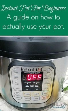 Have an instant pot or curious about how they work? I have put together Instant Pot For Beginners: A guide on how to use your instant pot. via Awe Filled Homemaker instant pot recipes Power Pressure Cooker, Pressure Pot, Electric Pressure Cooker, Instant Pot Pressure Cooker, Pressure Cooker Recipes, Pressure Cooking, Slow Cooker, Instant Cooker, Rice Cooker