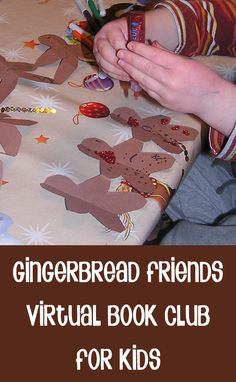Exploring Jan Brett's book - Gingerbread Friends with making of paper doll chains - bringing books alive is a great way to foster a love of reading with your children what ever their age